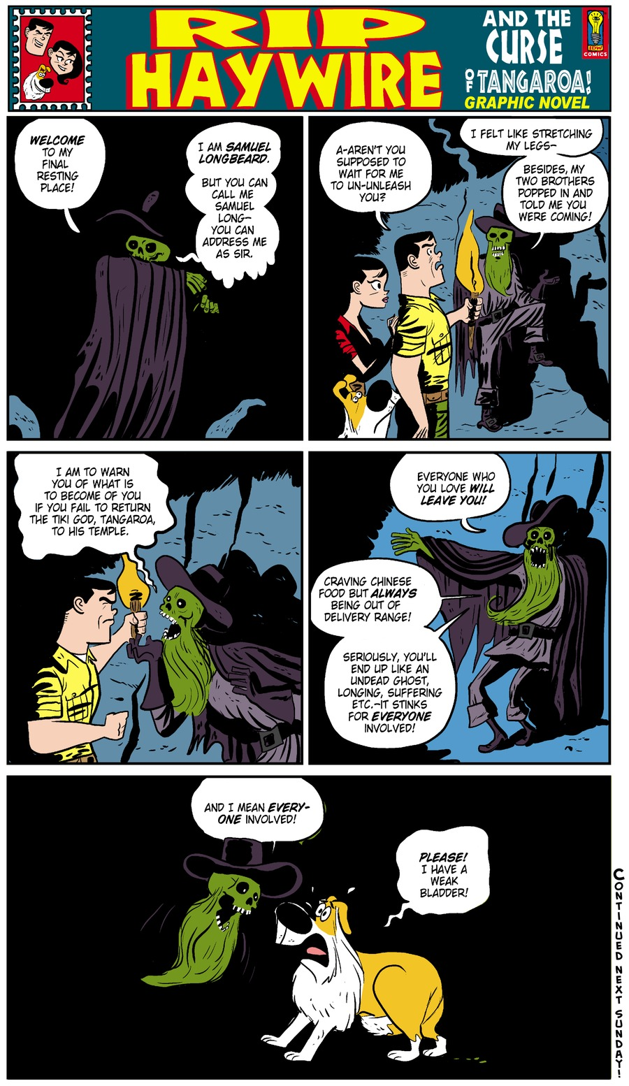 Rip Haywire Comic Strip for August 10, 2014