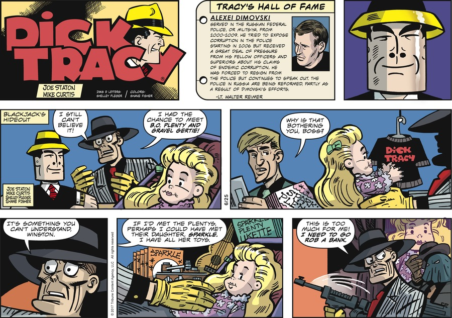 Dick Tracy Comic Strip for June 25, 2017
