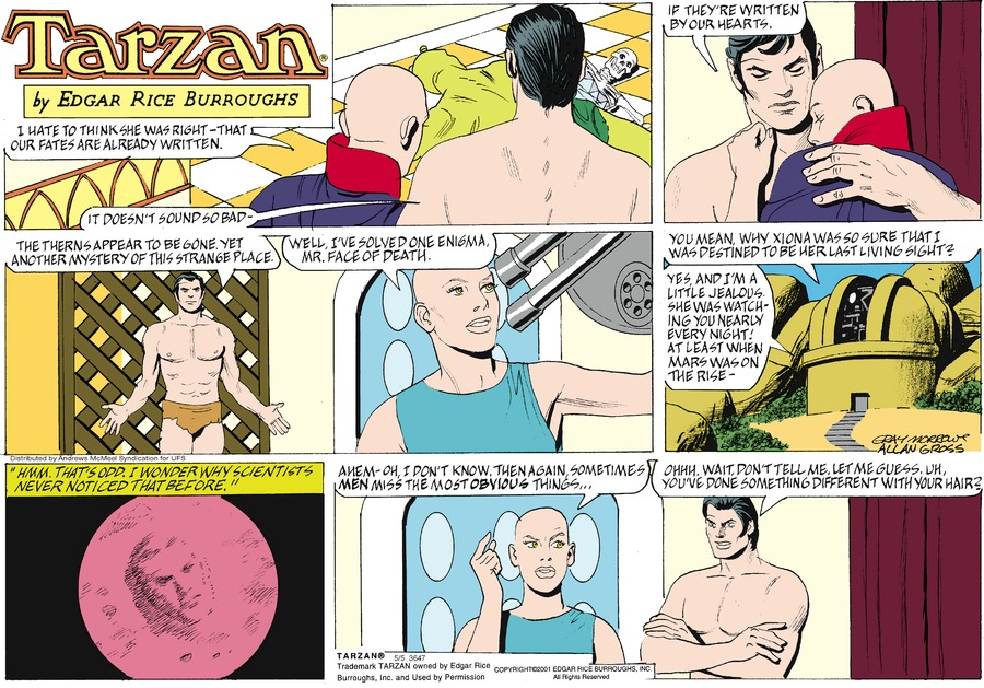 Tarzan by Edgar Rice Burroughs for May 05, 2019