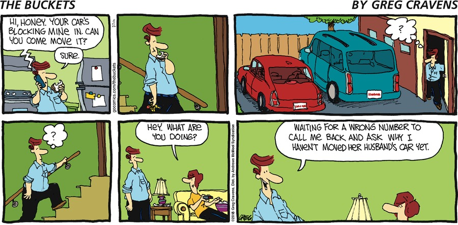 The Buckets Comic Strip for August 26, 2018