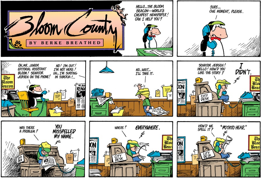 Bloom County Comic Strip for January 14, 2020