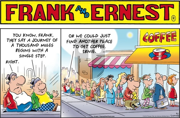 Frank and Ernest on Sunday September 1, 2019 Comic Strip