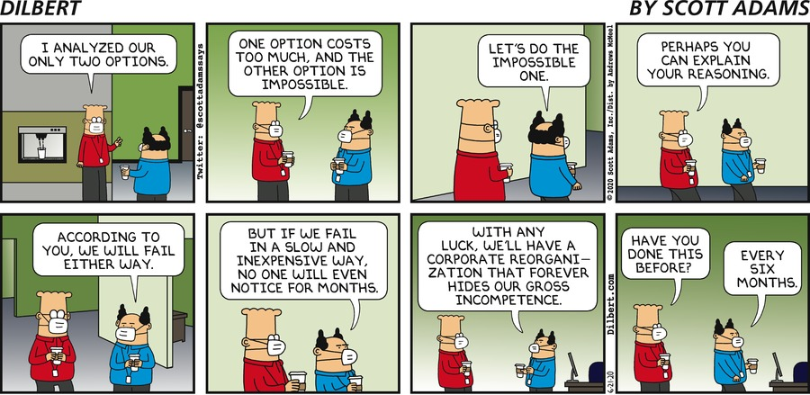 Two Bad Options - Dilbert by Scott Adams