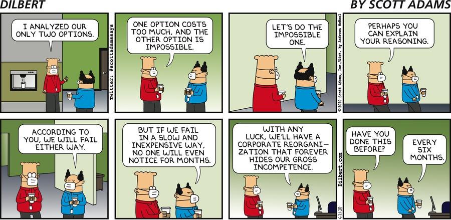 Two Bad Options - Dilbert by Scott Adams