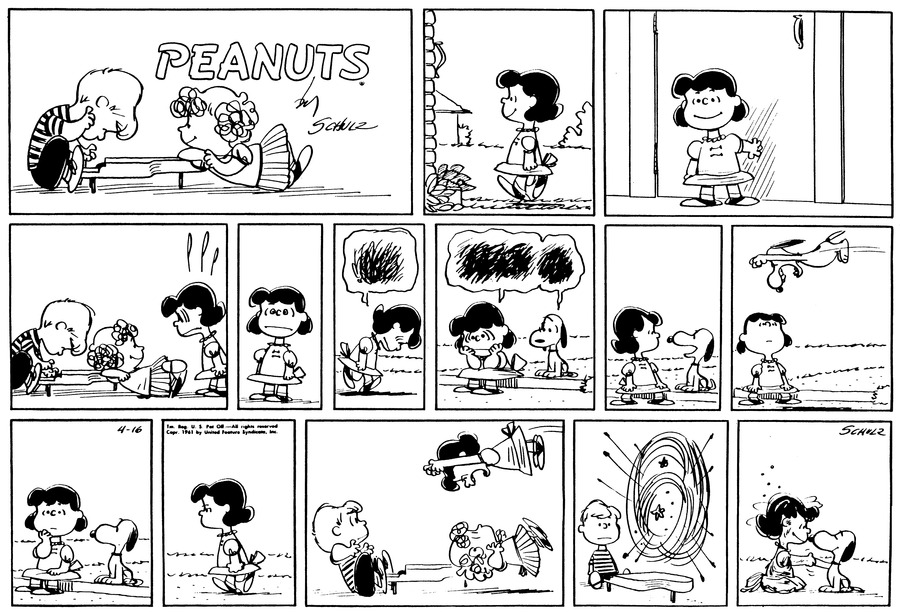 Peanuts Comic Strip for April 16, 1961
