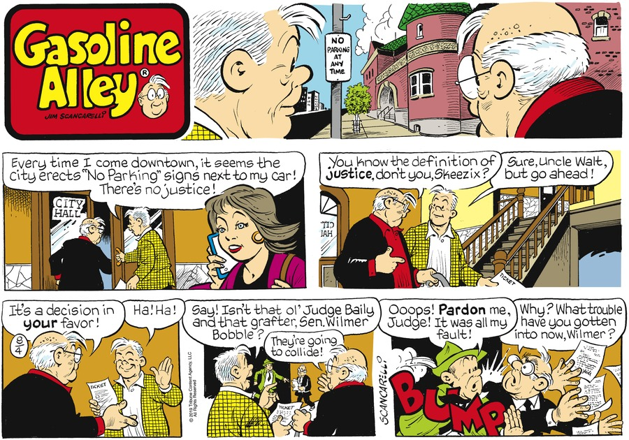 Gasoline Alley Comic Strip for August 04, 2019