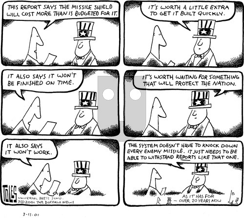 Tom Toles on Sunday March 11, 2001 Comic Strip