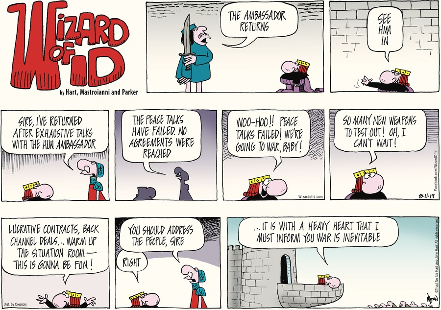 Wizard of Id Comic Strip for August 11, 2019