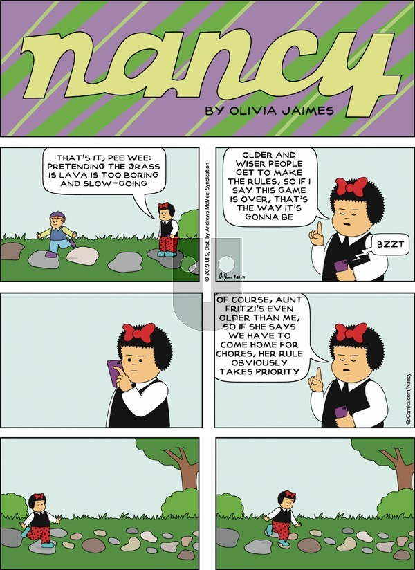 Nancy on Sunday July 21, 2019 Comic Strip