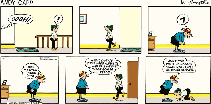 Andy Capp Comic Strip for February 10, 2019