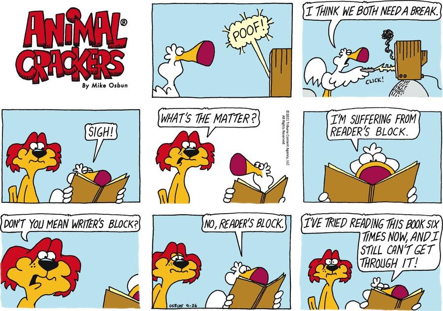 Animal Crackers Comic Strip for September 26, 2021