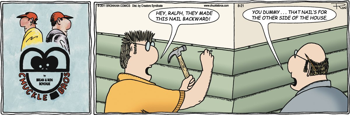 Chuckle Bros Comic Strip for July 31, 2020