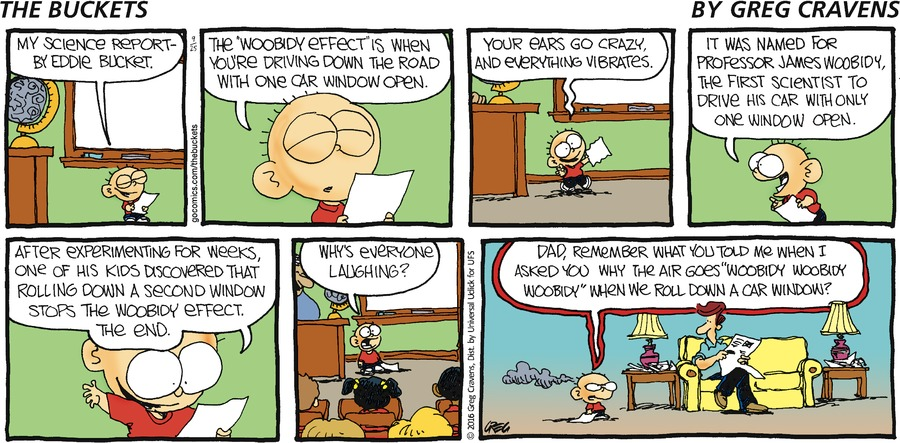 The Buckets Comic Strip for September 25, 2016