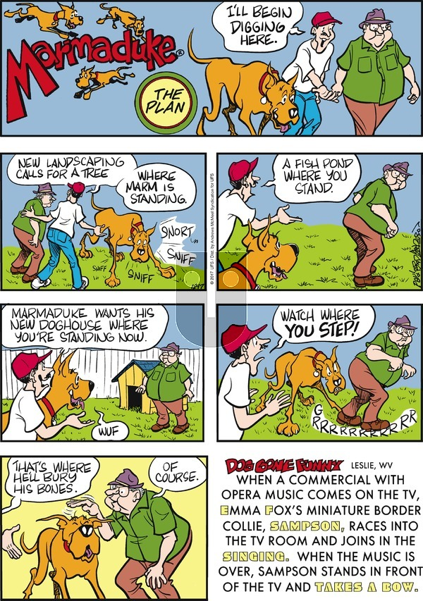 Marmaduke on Sunday December 17, 2017 Comic Strip