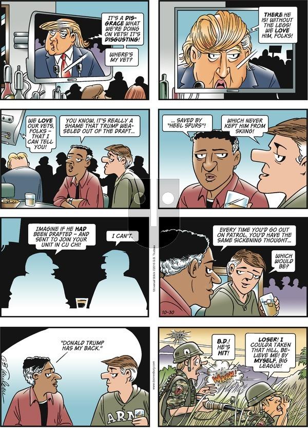 Doonesbury on Sunday October 30, 2016 Comic Strip