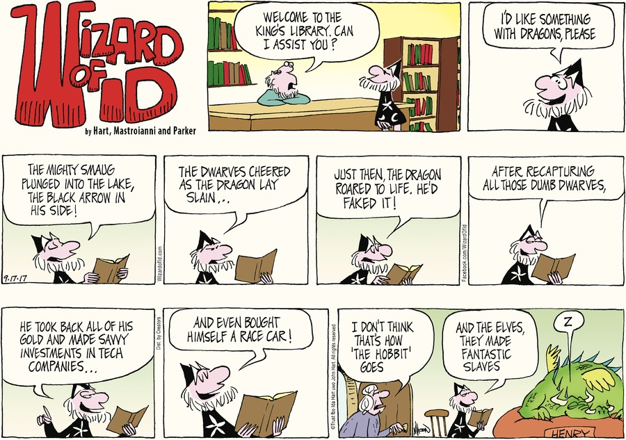 Wizard of Id Comic Strip for September 17, 2017