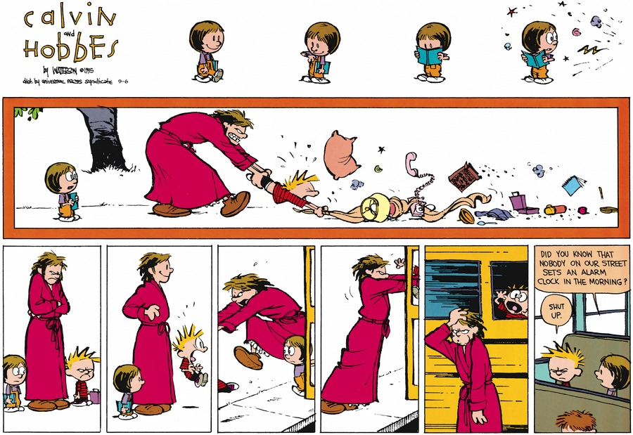 Calvin and Hobbes Comic Strip for September 06, 2015
