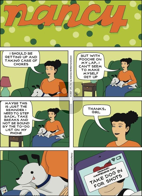 Nancy on Sunday January 31, 2021 Comic Strip
