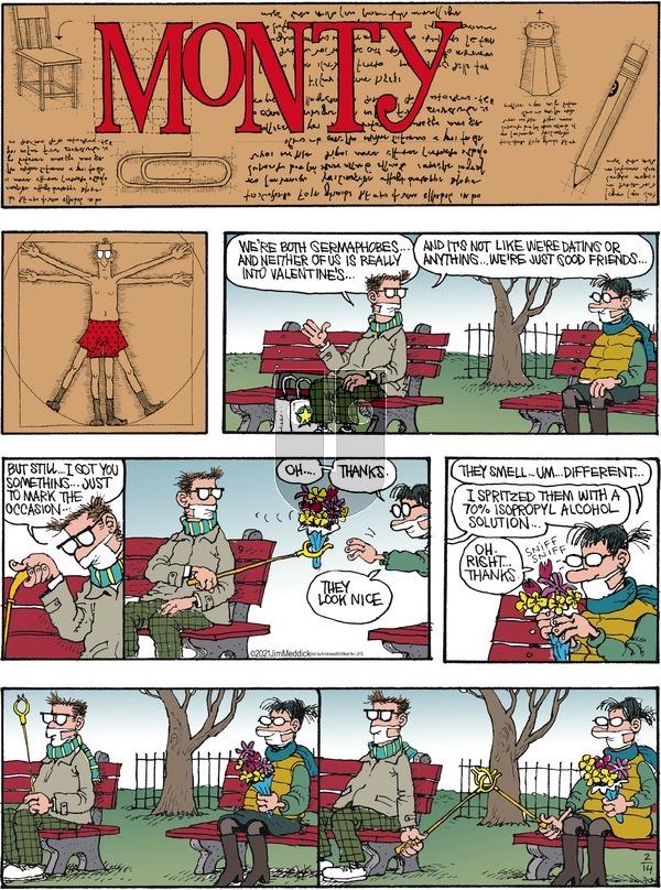 Monty on Sunday February 14, 2021 Comic Strip