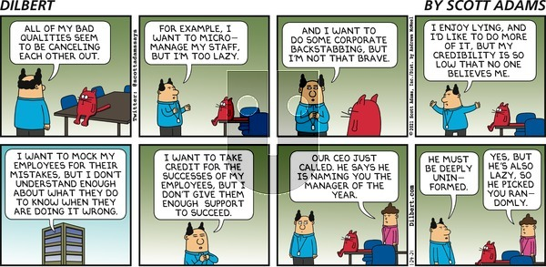 Dilbert on Sunday January 24, 2021 Comic Strip