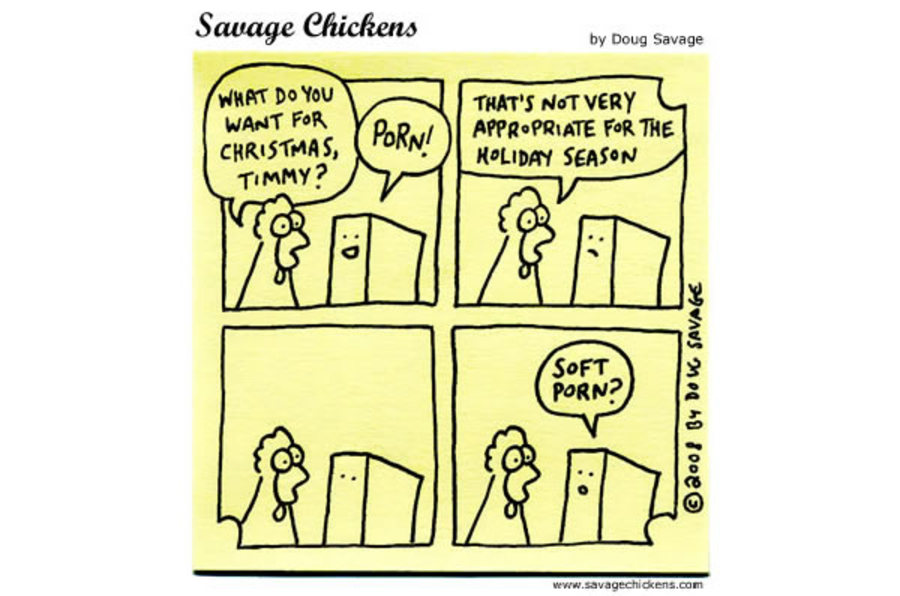 Savage Chickens Comic Strip for December 18, 2012