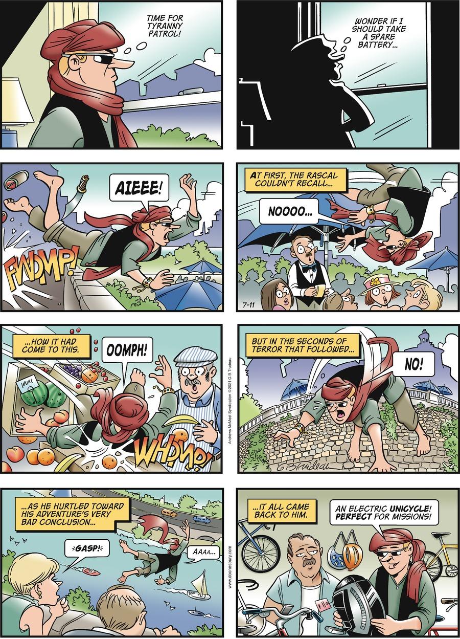 Doonesbury Comic Strip for July 11, 2021