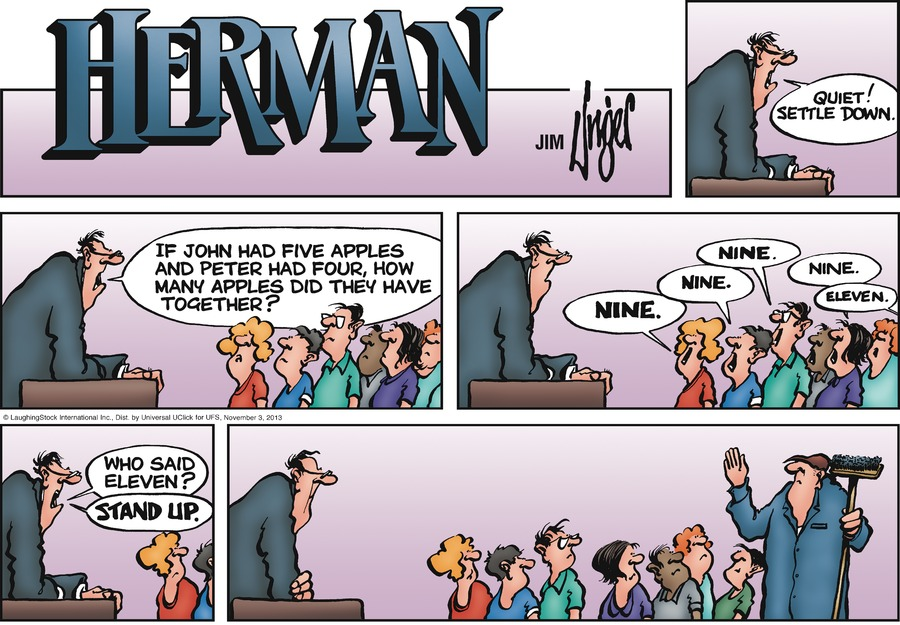 Herman Comic Strip for November 03, 2013