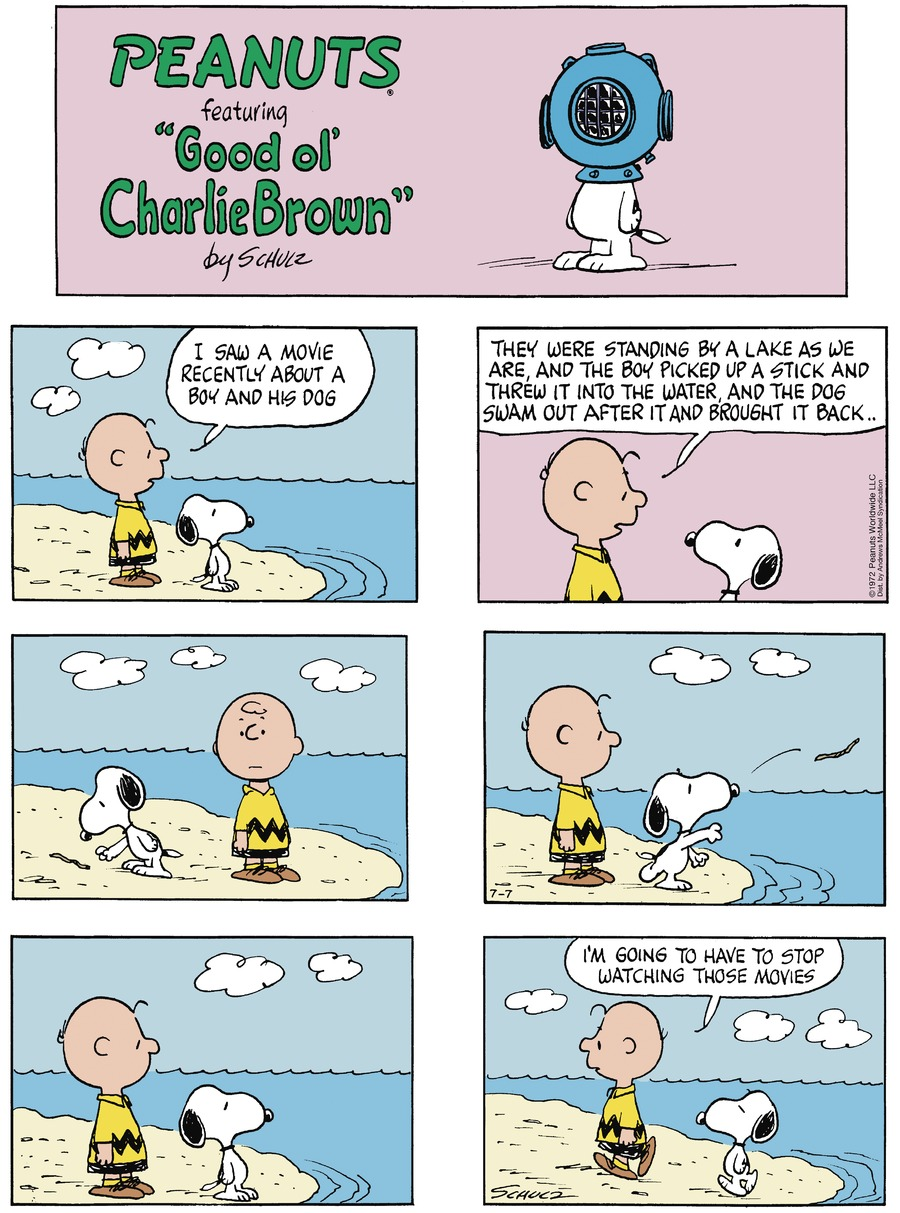 Peanuts by Charles Schulz for July 07, 2019