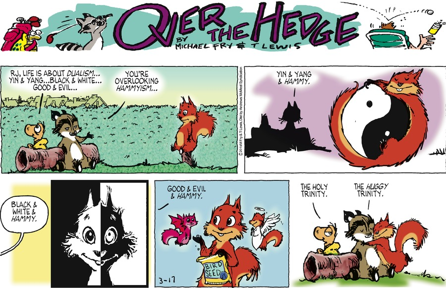 Over the Hedge by T Lewis and Michael Fry for March 17, 2019