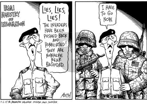Tony Auth on Sunday April 6, 2003 Comic Strip