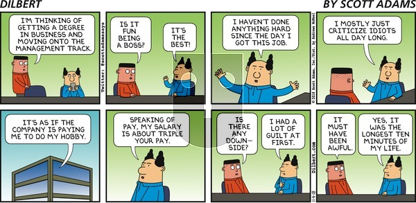 Dilbert on Sunday November 4, 2018 Comic Strip