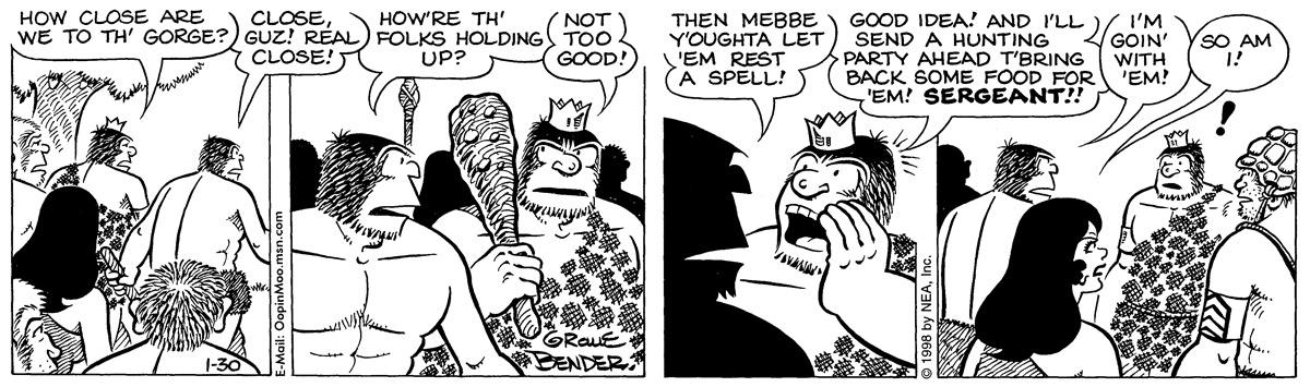 Alley Oop for Jan 30, 1998 Comic Strip