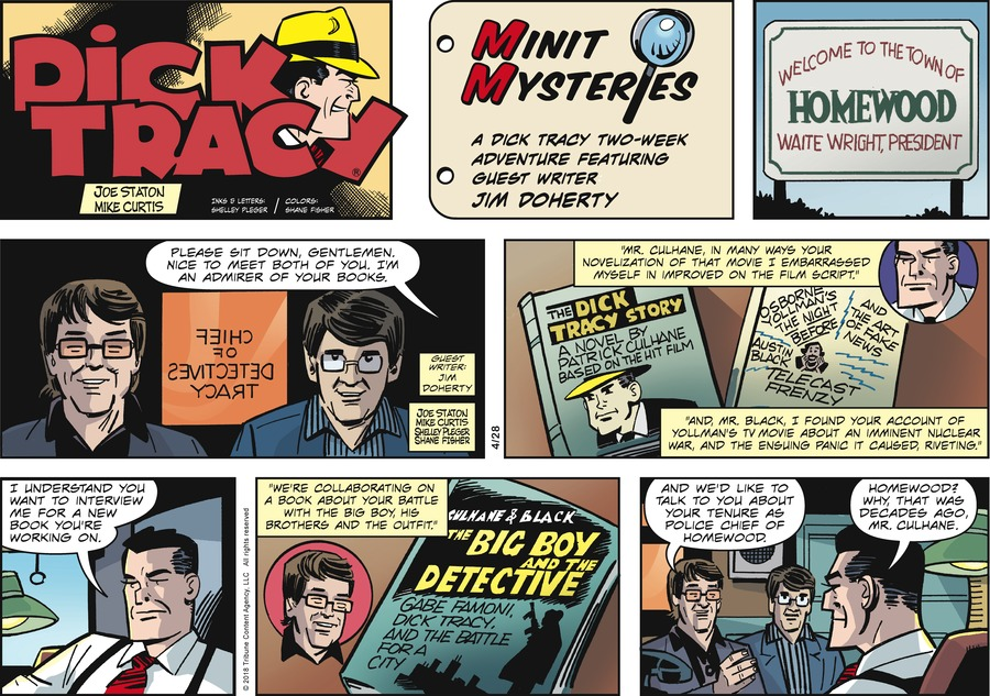 Dick Tracy Comic Strip for April 28, 2019