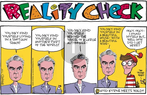 Reality Check - Sunday July 26, 2020 Comic Strip