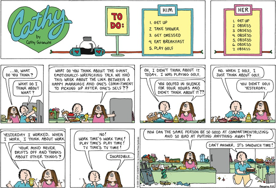 Cathy for Aug 24, 2008 Comic Strip