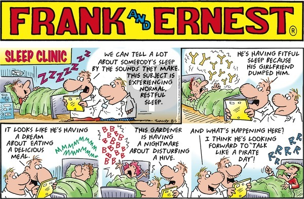 Frank and Ernest on August 5, 2018 Comic Strip