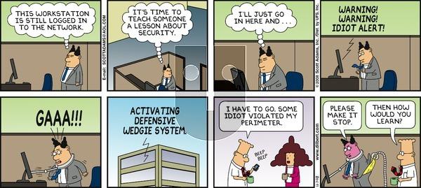 Dilbert on Sunday December 7, 2008 Comic Strip