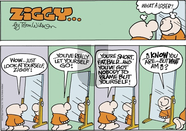 Ziggy on Sunday January 13, 2019 Comic Strip