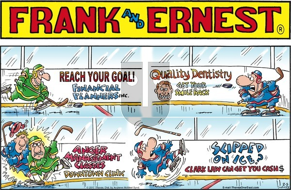 Frank and Ernest on Sunday February 5, 2017 Comic Strip