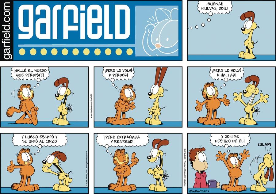 Garfield en Español by Jim Davis for December 02, 2018