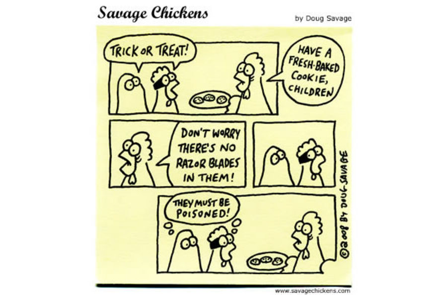Savage Chickens Comic Strip for October 31, 2012