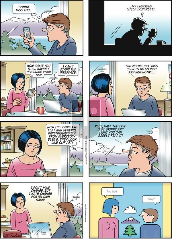 Doonesbury on Sunday March 16, 2014 Comic Strip