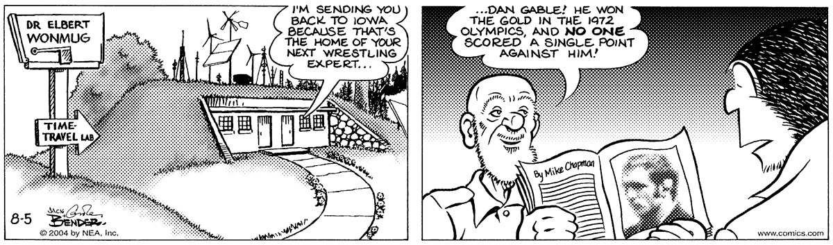 Alley Oop for Aug 5, 2004 Comic Strip