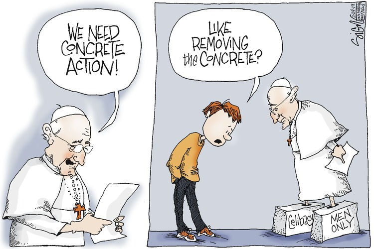Signe Wilkinson by Signe Wilkinson for February 24, 2019