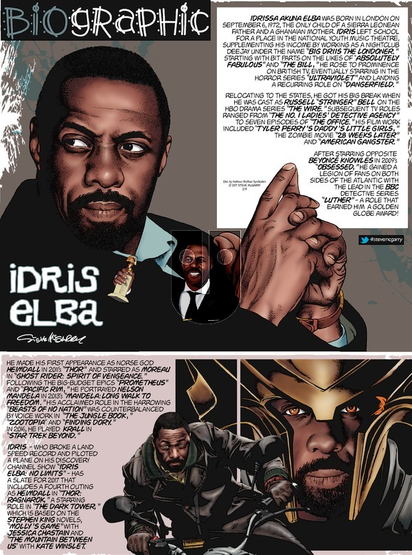Biographic on Sunday February 5, 2017 Comic Strip
