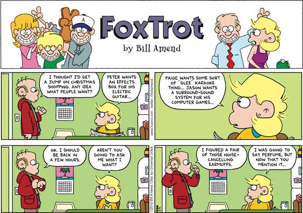 FoxTrot Comic Strip for December 05, 2010