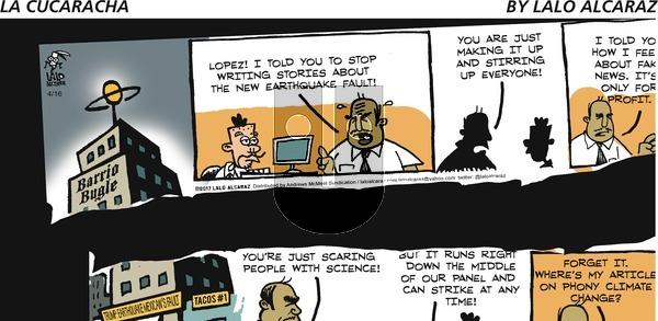 La Cucaracha on Sunday April 16, 2017 Comic Strip