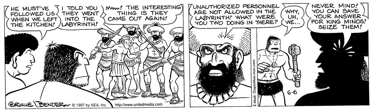 Alley Oop for Jun 6, 1997 Comic Strip