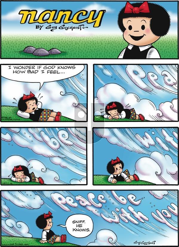 Nancy on Sunday May 1, 2016 Comic Strip