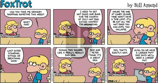 FoxTrot on Sunday June 30, 2019 Comic Strip